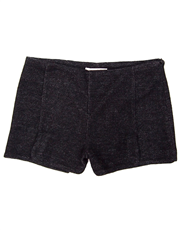 Paneled Split Hem Shorts
