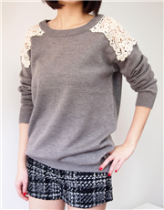 Lace Embroidered Sweater