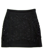 Teardrop Cutout Skirt
