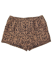 Brown Jacquard Shorts